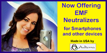 Neutralize EMF radiation emitted from your Iphone, Android, Blackberry, Samsung Galaxy, LG G4, Sony Xperia Z3 Compact, Motorola Moto G, HTC One M9, LG G3, Samsung Galaxy Note 4, Samsung Galaxy Note Edge or other smart phone or Ipad with Aulterra's easy stick-on patches. Also EMF neutralize your whole house with the Aulterra whole house EMF neutralizer.